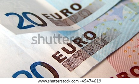 Euro banknotes money useful as a background (16:9 aspect ratio)