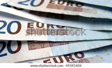 Euro banknotes money useful as a background - (16:9 ratio)