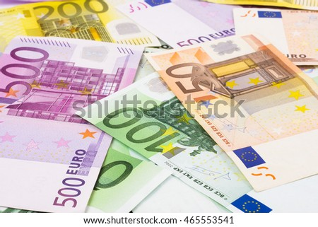 Euro banknotes of the European Union background image