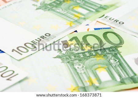 Euro Banknotes The Official Currency Of The European Union