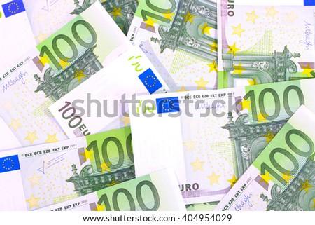 Euro bills texture - stock photo