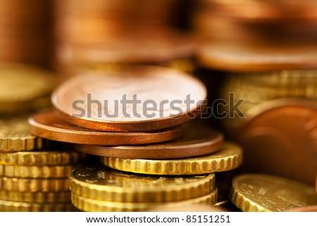 euro cents - stock photo