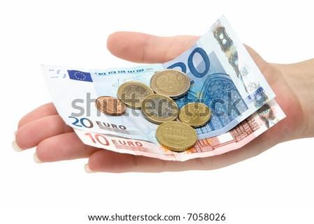 Euro Change - stock photo