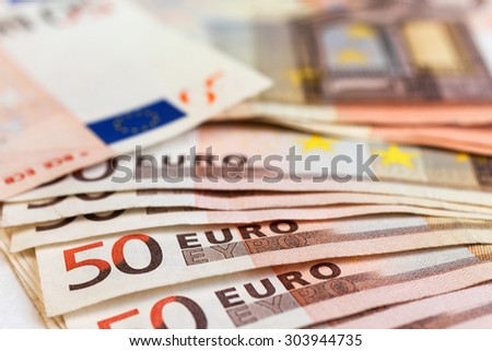 Euro closeup, may be used as background - stock photo