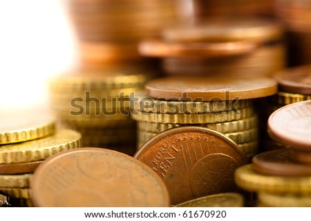 euro coin cents - stock photo