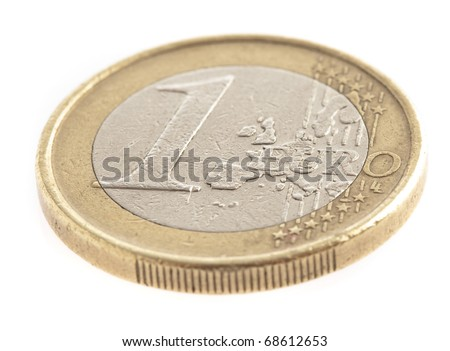 euro coin isolated on a white background - stock photo