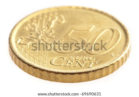 euro coin isolated on a white background