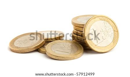 euro coins - stock photo