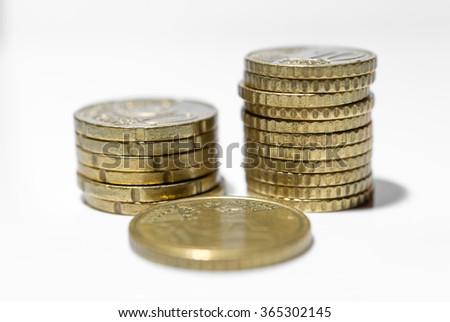 Euro coins. Euro money. Euro currency. - stock photo