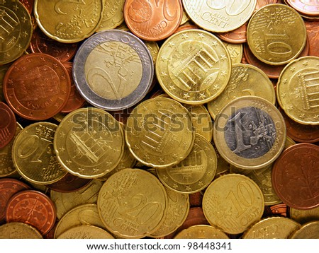 Euro coins. Europe finance system concept. - stock photo