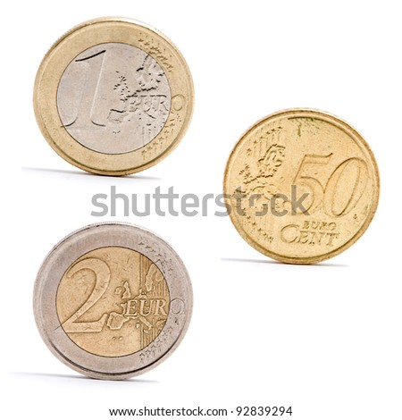 euro coins. high quality image. - stock photo