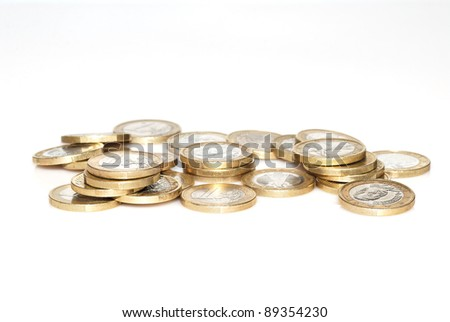 euro coins of income and statement
