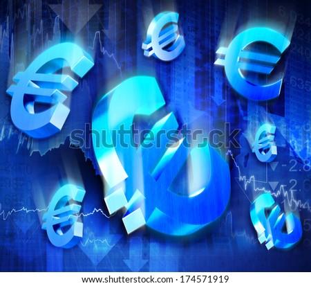 Euro Collapse. - stock photo