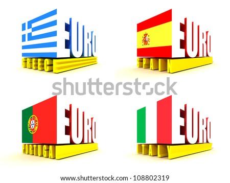 Euro Crisis - stock photo