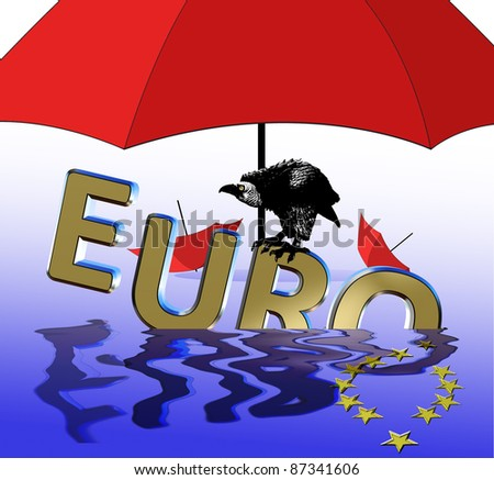 Euro crisis and the rescue funding program - stock photo