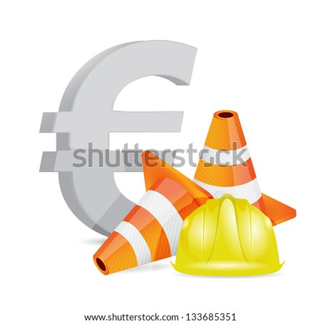 euro crisis concept illustration design over a white background