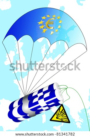 Euro crisis in Greece - stock photo