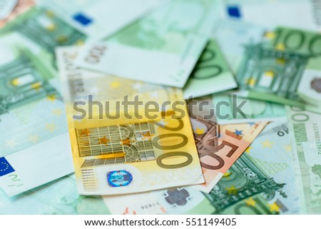 Euro currency background. Euro cash background.