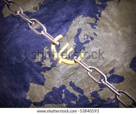 Euro currency concept illustration - stock photo