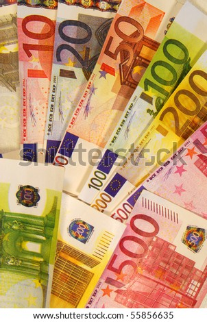 Euro currency, European banknotes, European money