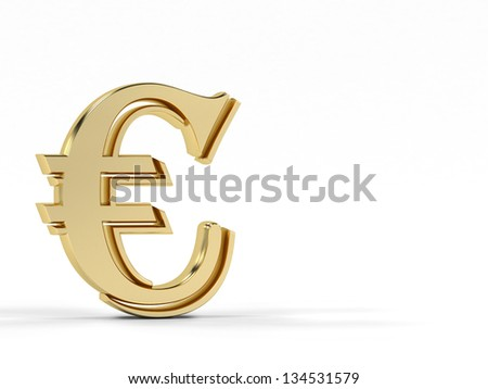 Euro currency symbol 3d render