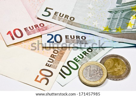 Euro European currency - money