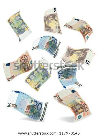 euro fall - stock photo