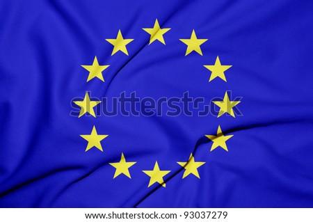 Euro flag background - stock photo