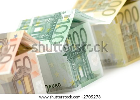 Euro Houses (Close View) - stock photo