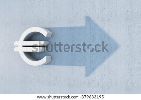 euro is grow, 3d concept - stock photo