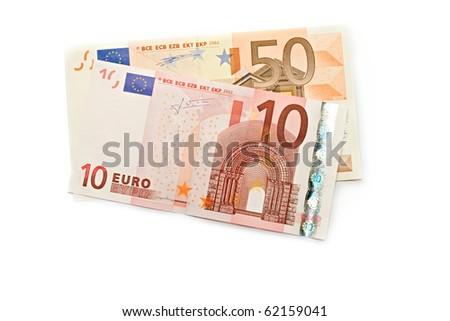 Euro isolated on white - stock photo