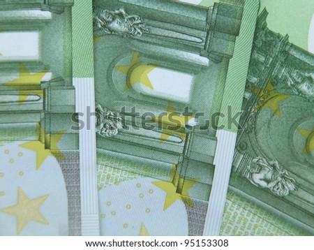 Euro (legal tender of the European Union) banknotes - stock photo