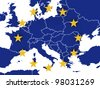 Euro map - stock photo