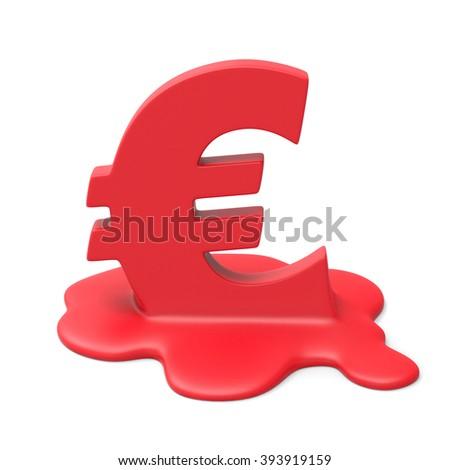 Euro meltdown - stock photo