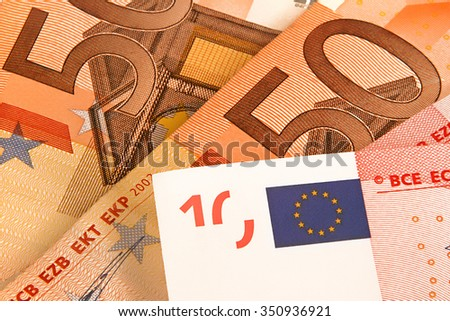 Euro money background - stock photo