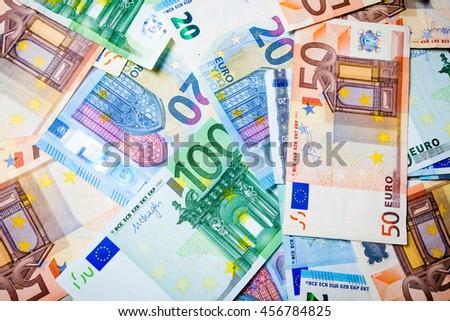 Euro Money,Bank notes - stock photo