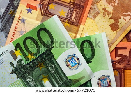 Euro money bills for financial background - stock photo