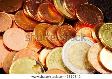 Euro money - closeup - stock photo