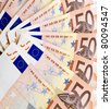 Euro money. Euro money banknotes. 50 euro - stock photo