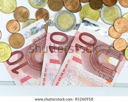euro money in envelope - stock photo