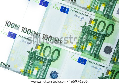 Euro money on isolated background. European national banknotes.