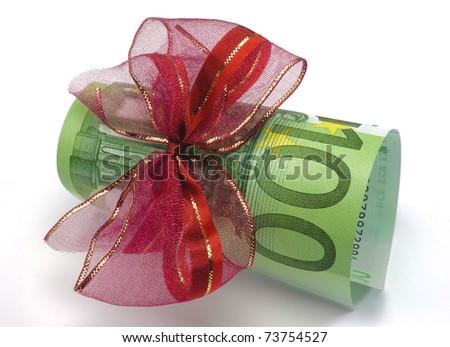 euro money present - stock photo