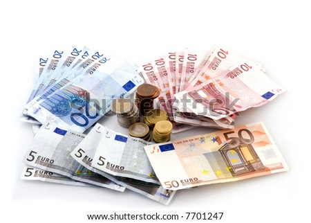 Euro money to pay with