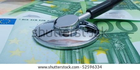 Euro money, with a stethoscope