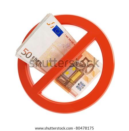 euro no financial crisis on a white background - stock photo