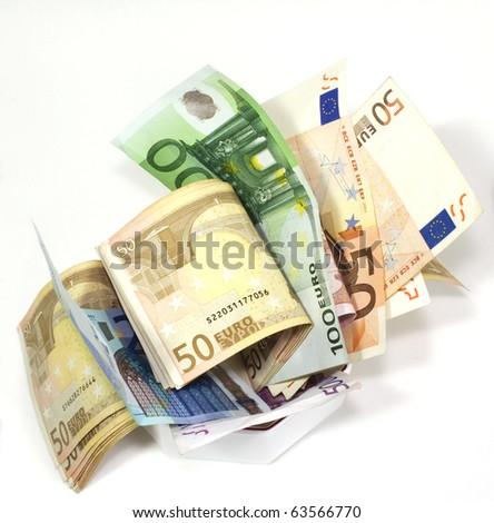 euro notes - stock photo