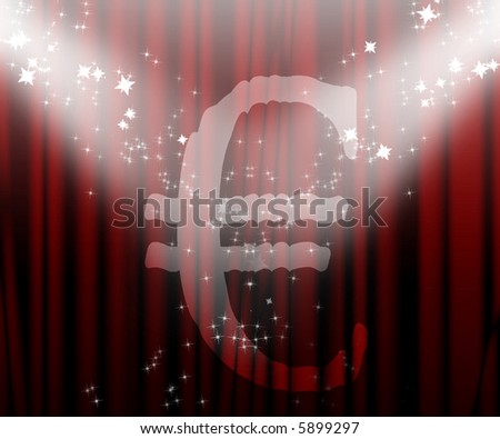 Euro on the center stage - stock photo
