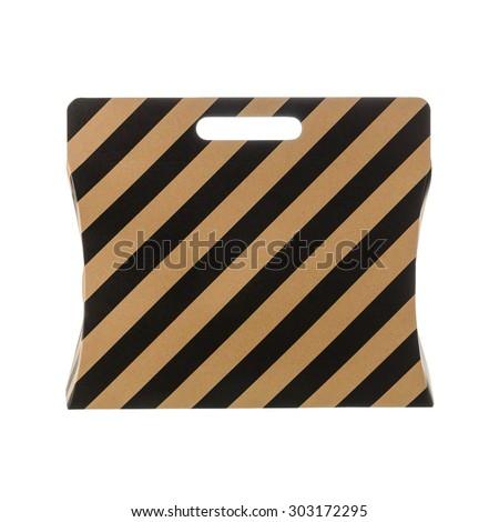 euro paper shopping bag isolated on white background - stock photo