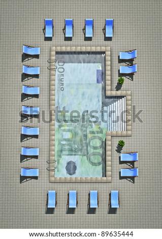Euro pool - stock photo