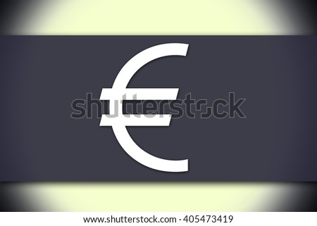 Euro sign - business concept with text - horizontal image